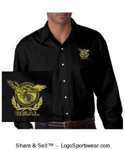 Men's Black Twill Shirt Design Zoom