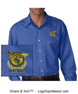 Men's Light Blue Twill Shirt Design Zoom