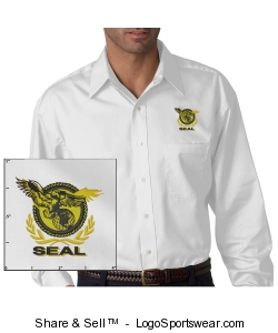 Men's White Twill Shirt Design Zoom